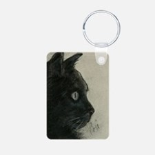 In The Dark Black Cat Art Keychains