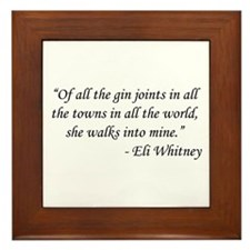 Casablanca - Eli Whitney Framed Tile