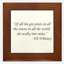 Casablanca - Eli Whitney Framed Tile