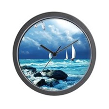 Ocean Sailing Wall Clock