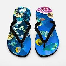 Ocean Life Flip Flops