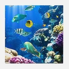 Ocean Life Tile Coaster