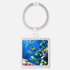 Ocean Life Square Keychain