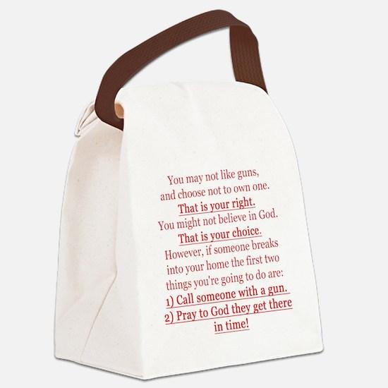 Pro Gun Quote Canvas Lunch Bag