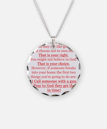 Pro Gun Quote Necklace