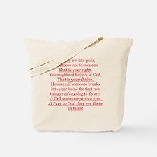 Pro Gun Quote Tote Bag