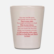 Pro Gun Quote Shot Glass