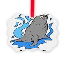Cartoon Sea Lion by Lorenzo Ornament