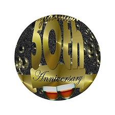 """50th anniversary congradulations 3.5"""" Button"""