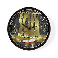 50th anniversary congradulations Wall Clock