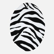 Zebra Stripes Oval Ornament