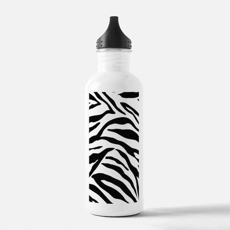 Zebra Stripes Water Bottle
