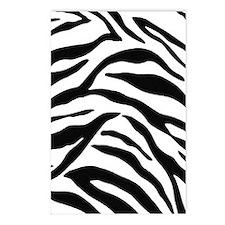 Zebra Stripes Postcards (Package of 8)