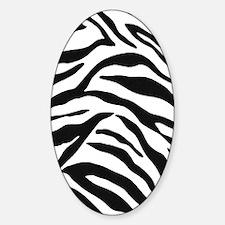 Zebra Stripes Sticker (Oval)