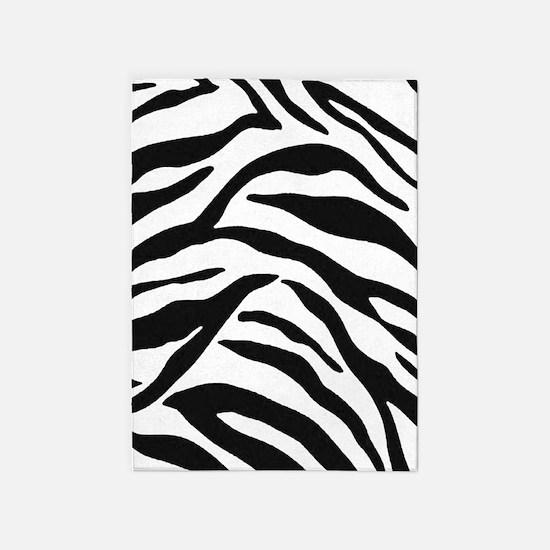 Zebra Stripes 5'x7'Area Rug