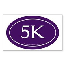 5K Running Achievement Purple Decal