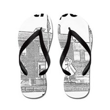 Metropolis_12x12_GiantSuperman_Black Flip Flops