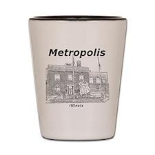 Metropolis_12x12_GiantSuperman_Black Shot Glass