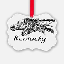 Racing Horses In KY Ornament
