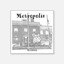 "Metropolis_10x10_Superman_B Square Sticker 3"" x 3"""