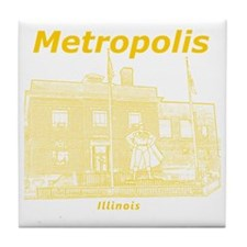 Metropolis_12x12_GiantSuperman_Yellow Tile Coaster