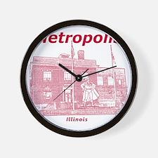 Metropolis_12x12_GiantSuperman_Red Wall Clock