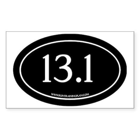 Half Marathon 13.1 Running Ach Sticker (Rectangle)