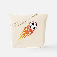 Soccer Fire Ball Tote Bag