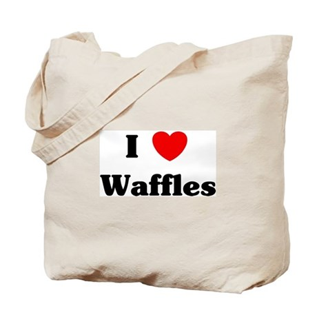 I love Waffles Tote Bag