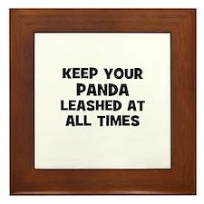 keep your panda leashed at al Framed Tile
