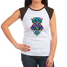 Owl Design Women's Cap Sleeve T-Shirt