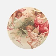 "Cupid Angel 3 3.5"" Button"