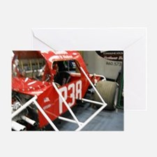Replica Of Original P-38 Racing Car Greeting Card