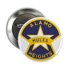 "Alamo Heights Mules 2.25"" Button"