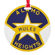 Alamo Heights Mules Ornament