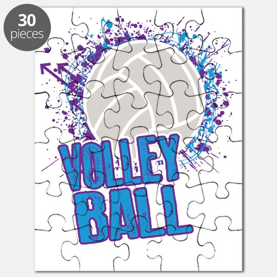 Volleyball Splatter Puzzle
