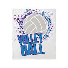 Volleyball Splatter Throw Blanket