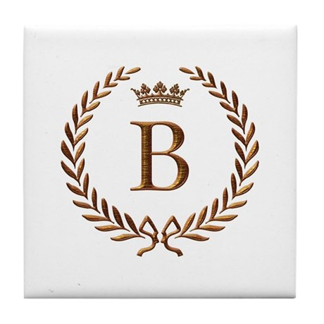 60th Anniversary Gifts >> Napoleon initial letter B monogram Tile Coaster by jackthelads