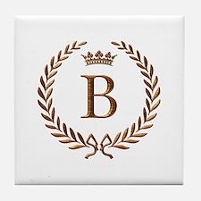 Napoleon initial letter B monogram Tile Coaster