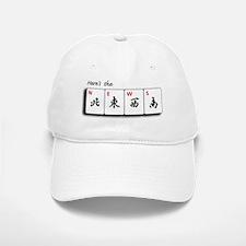 Mah Jong Note Cards Baseball Baseball Cap