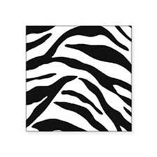 "Zebra Stripes Square Sticker 3"" x 3"""