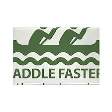 PaddleFasterIHearBanjoMusic-Green Rectangle Magnet