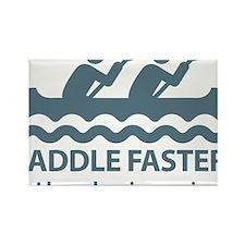 PaddleFasterIHearBanjoMusic-Blue Rectangle Magnet