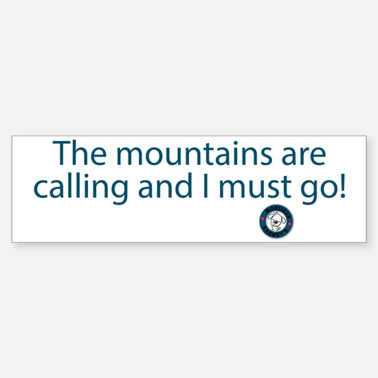 The Mountains Sticker (Bumper)