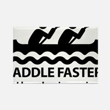Paddle Faster I Hear Banjo Music. Rectangle Magnet