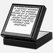 The man dreams of a perfect woman and Keepsake Box