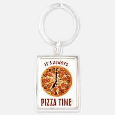 Its Always Pizza Time Portrait Keychain