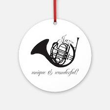 Unique & Wonderful Round Ornament