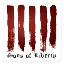 "Sons of Liberty Square Car Magnet 3"" x 3"""