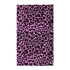 Purple Leopard Print 3'x5' Area Rug